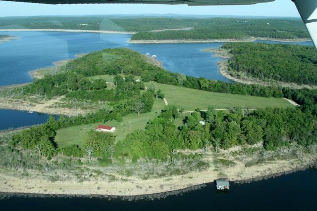 Aerial view of Camp Galilee located on Lake Bull Shoals, Lead Hill, AR.